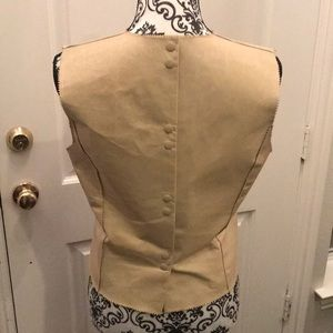 Cynthia Rowley Tops - Smooth leather vest.